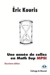 Une année de colles en math sup MPSI