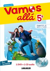 Vamos allá 5e LV2 : Coffret pour la Classe 1 CD Audio et 1 DVD