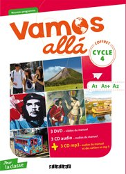 Vamos allá Cycle 4 LV2 A1-A1+-A2 : Coffret pour la Classe 3 CD Audio, 3 CD MP3, 3 DVD