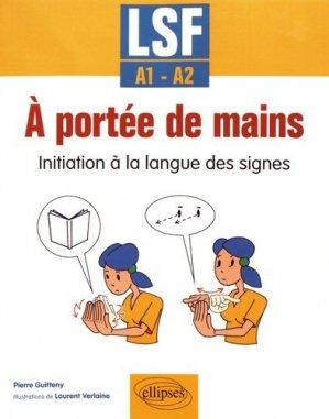 A portée de mains initiation à la langue des signes lsf a1-a2-ellipses-9782340019621