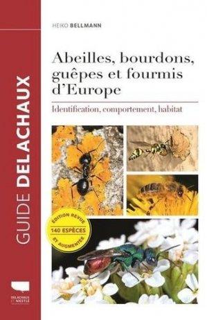 Abeilles, bourdons, guêpes et fourmis d'Europe-delachaux et niestlé-9782603025390