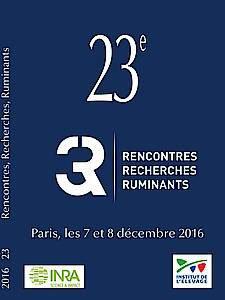 Actes des 23èmes Rencontres Recherches Ruminants 2016 (3R) - technipel / institut de l'elevage - 9782363437792