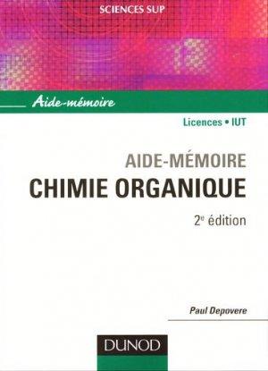 Aide-mémoire chimie organique - dunod - 9782100548934