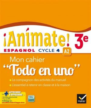 ANIMATE  3EME  -3EME ANN?E -HATIER-9782218989308