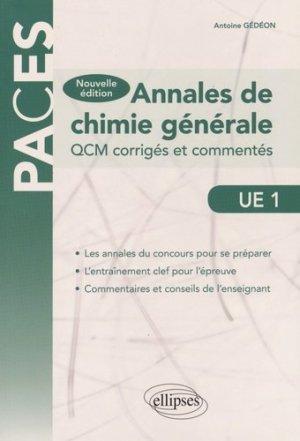 Annales de Chimie générale  UE1-ellipses-9782340007840