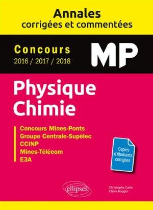 Annales corrigées et commentées Physique-Chimie MP-ellipses-9782340025837
