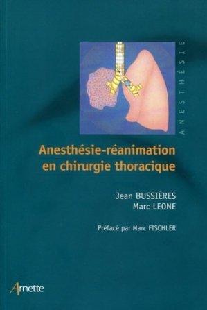 Anesthésie réanimation en chirurgie thoracique-arnette-9782718413839