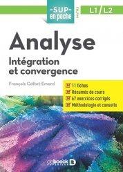 Analyse : intégration et convergence, L1-L2-de boeck superieur-9782807321281