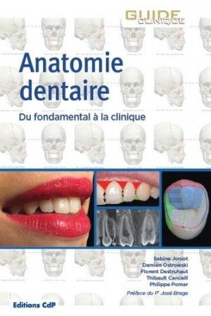 Anatomie dentaire - cdp - 9782843614200