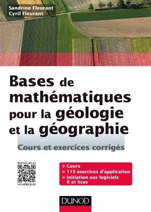 Bases de mathématiques pour la géologie et la géographie-dunod-9782100738915
