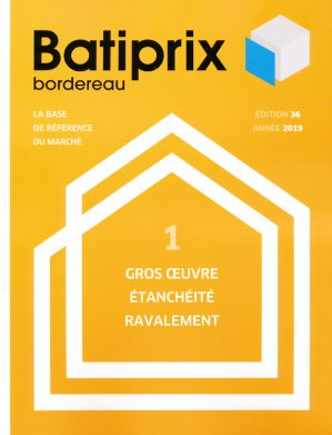 Batiprix 2019 Volume 1 - groupe moniteur - 9782281142297