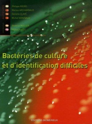 Bactéries de culture et d'identification difficiles-biomerieux-9782951496392