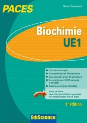 Biochimie - UE1 - édiscience - 9782100598410