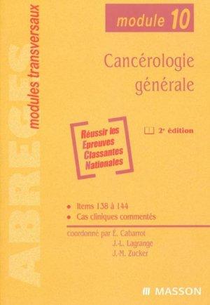 Cancérologie générale - elsevier / masson - 9782294019531