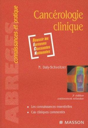 Cancérologie clinique-elsevier / masson-9782294701238