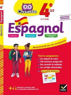 CHOUETTE ESPAGNOL 4E LV2 2019 -hatier-9782401051195