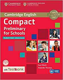 Compact Preliminary for Schools - Student's Book without Answers with CD-ROM with Testbank - cambridge - 9781107527089