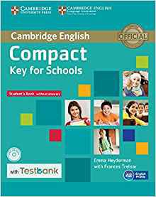 Compact Key for Schools - Student's Book without Answers with CD-ROM with Testbank - cambridge - 9781107527188
