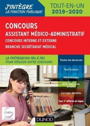 Concours Assistant médico-administratif 2019-2020 Tout-en-un Catégorie B - Concours externe et inter-dunod-9782100784226