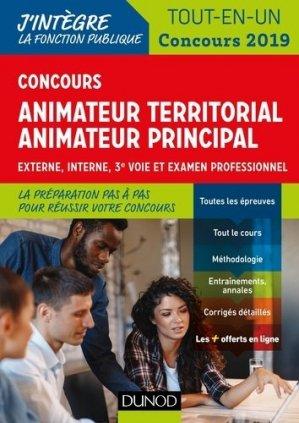 Concours Animateur territorial, animateur territorial principal-dunod-9782100789641