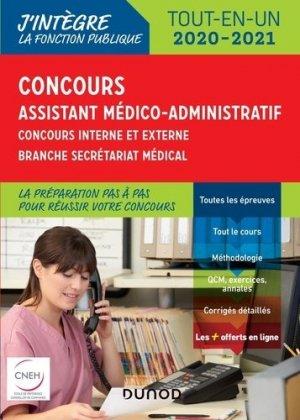 Concours Assistant médico-administratif 2020-2021-dunod-9782100796236