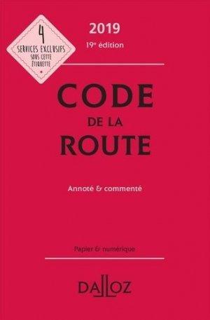Code de la route 2019, annoté et commenté - dalloz - 9782247186235