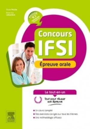 Concours IFSI Épreuve orale - elsevier / masson - 9782294748288