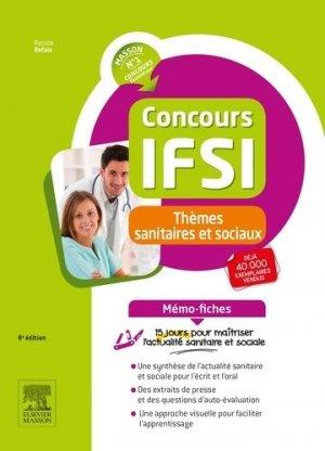 Concours IFSI - Thèmes sanitaires et sociaux - Mémo-fiches - elsevier / masson - 9782294750922