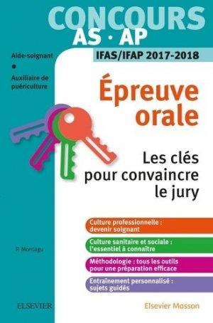 Concours AS - AP - Épreuve orale-elsevier / masson-9782294752810