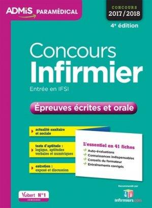 Concours Infirmier - Épreuves écrites et orale-vuibert-9782311202953