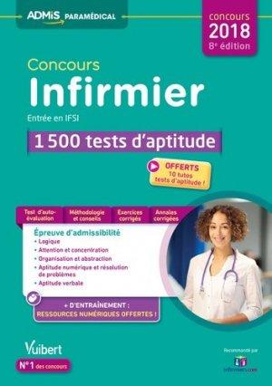 Concours Infirmier - Entrée en IFSI - 1 500 tests d'aptitude - vuibert - 9782311203974