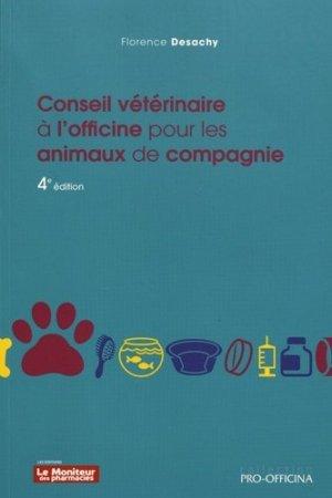 Conseil vétérinaire à l'officine pour les animaux de compagnie - wolters kluwer - 9782375190159