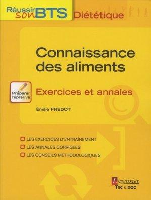 Connaissance des aliments - Exercices et annales-lavoisier / tec et doc-9782743022136