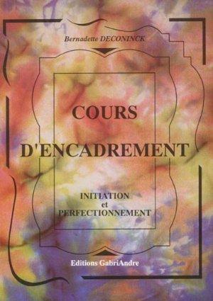 Cours d'encadrement - gabriandre - 9782916923017