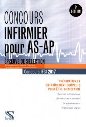 Concours infirmier pour AS-AP 2017 - Tout-en-un - setes - 9791091515498