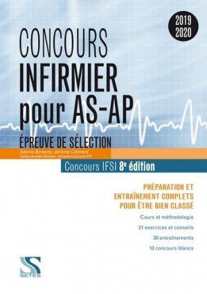 Concours Infirmier pour AS-AP 2019 - setes - 9791091515818