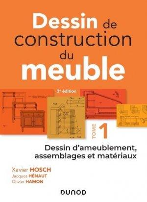 Dessin de construction du meuble - Tome 1-dunod-9782100781287