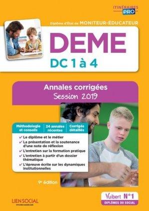 DEME - Épreuves de certification DC 1 à 4 - Annales corrigées 2019-vuibert-9782311205824