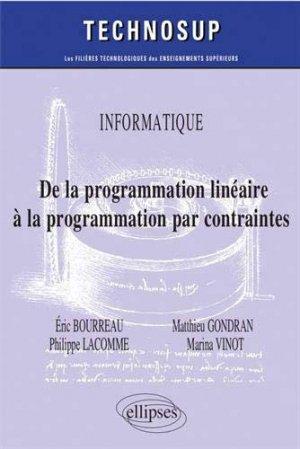 De la programmation linéaire à la programmation par contraintes - ellipses - 9782340029460