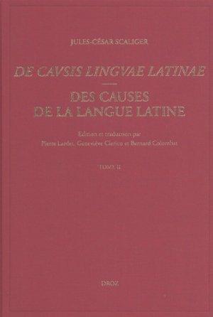 Des causes de la langue latine De Causis Linguae Latinae - Lyon, 1540-droz-9782600058506