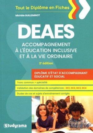 DEAES : accompagnement à l'éducation inclusive et à la vie ordinaire : diplôme d'Etat d'accompagnant éducatif et social-studyrama-9782759038022