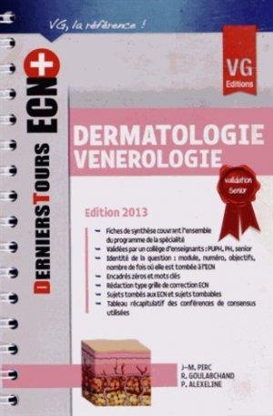 Dermatologie - Vénérologie - vernazobres grego - 9782818308219