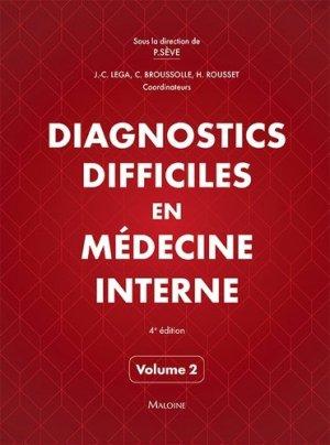 Diagnostics difficiles en médecine interne vol. 2 - maloine - 9782224035037