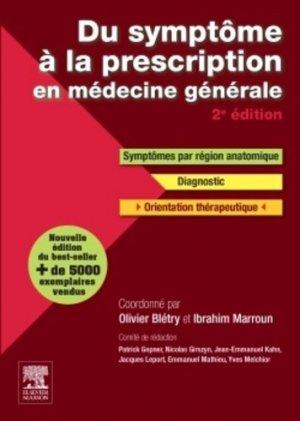 Du symptôme à la prescription en médecine générale-elsevier / masson-9782294731587