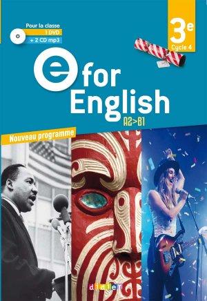 E for English 3e (éd. 2017) : Coffret Classe 2 CD Audio + 1 DVD-Didier-9782278088270