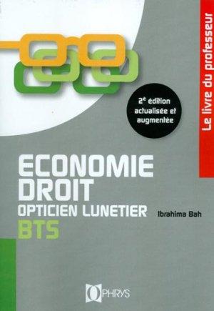 Economie Droit Opticien Lunetier BTS-ophrys-9782708013544
