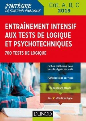 Entraînement intensif aux tests de logique et psychotechniques 2019-dunod-9782100789238