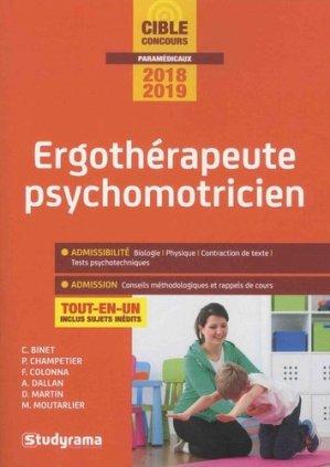 Ergothérapeute psychomotricien - Concours 2018-2019-studyrama-9782759037629