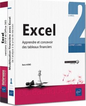 Excel - coffret de 2 livres :  apprendre et concevoir des tableaux financiers-eni-9782409018732