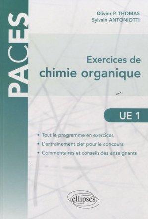 Exercices de Chimie organique UE1 - ellipses - 9782729865184
